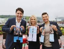Prime Minster with Kelly Ripa and Ryan Seacrest