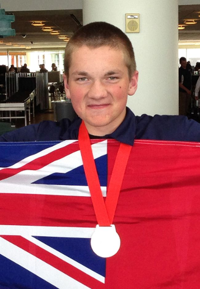 Declan Mowle won gold in outdoor power equipment at this year's Skills Canada national competition. (Supplied photo)