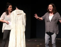 The Morning After the Life Before performed by Lucia Smith and Anne Blake at the Fringe Festival's Performer showcase at the Palace Theatre. (MIKE HENSEN, The London Free Press)