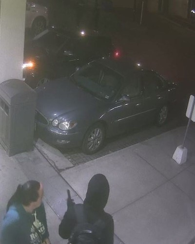 Security camera image of pre-home invasion