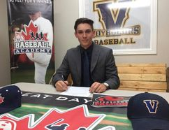 Ryan Barton signed with the Fanshawe College Falcons, where he will patrol the infield for the defending national college baseball champs. Bruce Heidman/The Sudbury Star/Postmedia Network