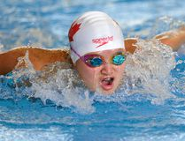 London Aquatic Club swimmer Maggie Mac Neil took gold in the 100-metre butterfly at a University of British Columbia meet last week. (File photo)