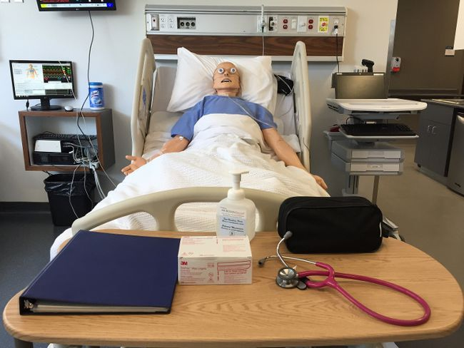 Roger, one of the computerized 'patients' at Western's nursing school. The doors opened to the new home for the Arthur Labatt Family School of Nursing on Thursday, June 8, 2017. (CHARLIE PINKERTON/The London Free Press)