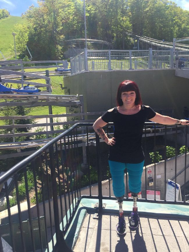 Erin Ball at Blue Mountain, where her experience on the Ridge Rider brought her to tears — of happiness. (Submitted photo)