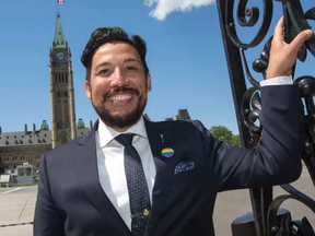 'When you look out and see yourself reflected in your government, in your schools and every aspect of society, it helps give you the ability to be comfortable, to be yourself,' said Alberta minister Ricardo Miranda. WAYNE CUDDINGTON / POSTMEDIA