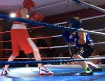 Local boxer Drake Plotts fought Laynden Tuemlaw during the Fight for Hope event held in Westlock on Saturday, May 27.