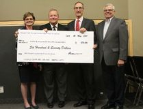 Airdrie & Area Health Benefits Co-Operative was one of two groups to receive a cheque from the Mayor's Annual Leadership Prayer Breakfast on Thursday, May 25th, 2017.
