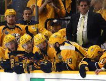 NASHVILLE, TN - JUNE 11: The Nashville Predators react after falling to the Pittsburgh Penguins 2-0 in Game Six of the 2017 NHL Stanley Cup Final at the Bridgestone Arena on June 11, 2017 in Nashville, Tennessee. (Photo by Bruce Bennett/Getty Images)  20