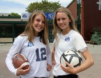 Carlie Parker, left, and Tiffany Hodgins of Marymount Academy made the most of their high school year. Scott Haddow/For The Sudbury Star