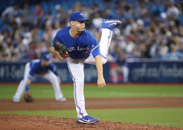 TORONTO, ON - JUNE 13: Jeff Beliveau #36 of the Toronto Blue Jays delivers a pitch in the sixth inning during MLB game action against the Tampa Bay Rays at Rogers Centre on June 13, 2017 in Toronto, Canada. (Photo by Tom Szczerbowski/Getty Images)