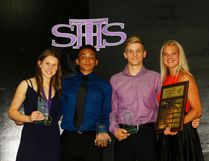 St. Timothy High School presented their athletic awards June 7, 2017. From left to right: Madison Cruickshank, Senior High Female Athlete of the Year, Isaiah Springer, Senior High Male Althlete of the Year, Connor McNeice, Outstanding Athletic Achievement, and Sophia Nowicki, Outstanding Graduating Athlete.