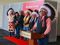 Stampede Parade marshal chiefs