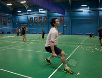 MADELEINE CUMMINGS, Edmonton Examiner - Yunzhi Chen, 16, practices at the B-Active Badminton club last Thursday. The national U17 champion will drive to Markham, Ont., later this summer with his family to participate in the Junior Pan Am Championships.