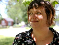 Tim Miller/The Intelligencer Christine Durant, executive director of the Poverty Roundtable Hastings-Prince Edward, stands outside of St. Joseph's Catholic Church in Belleville.