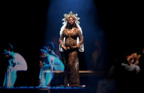Beyonce performs onstage during The 59th GRAMMY Awards at STAPLES Center on February 12, 2017 in Los Angeles, California. (Photo by Kevin Winter/Getty Images for NARAS)