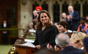 Minister of Foreign Affairs Chrystia Freeland delivers a speech in the House of Commons on Parliament Hill in Ottawa on Tuesday, June 6, 2017 on Canada's Foreign Policy. THE CANADIAN PRESS/Sean Kilpatrick