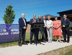 <p>Glengarry-Prescott-Russell MPP Grant Crack, second from left, announced millions in capital funding for Upper Canada District School Board projects in Avonmore, Cornwall and Brockville at Roxmore Public School in Avonmore, Ont., on Wednesday, June 14, 2017. Also pictured in this photo provided by the UCDSB is, from left, Stormont-Dundas-South Glengarry MPP Jim McDonell, UCDSB chair Jeff McMillan, second vice-chair David McDonald, Roxmore principal Cynthia Seguin, UCDSB vice-chair Caroll Carkner and director of education Stephen Sliwa. </p><p>Handout/Cornwall Standard-Freeholder/Postmedia Network