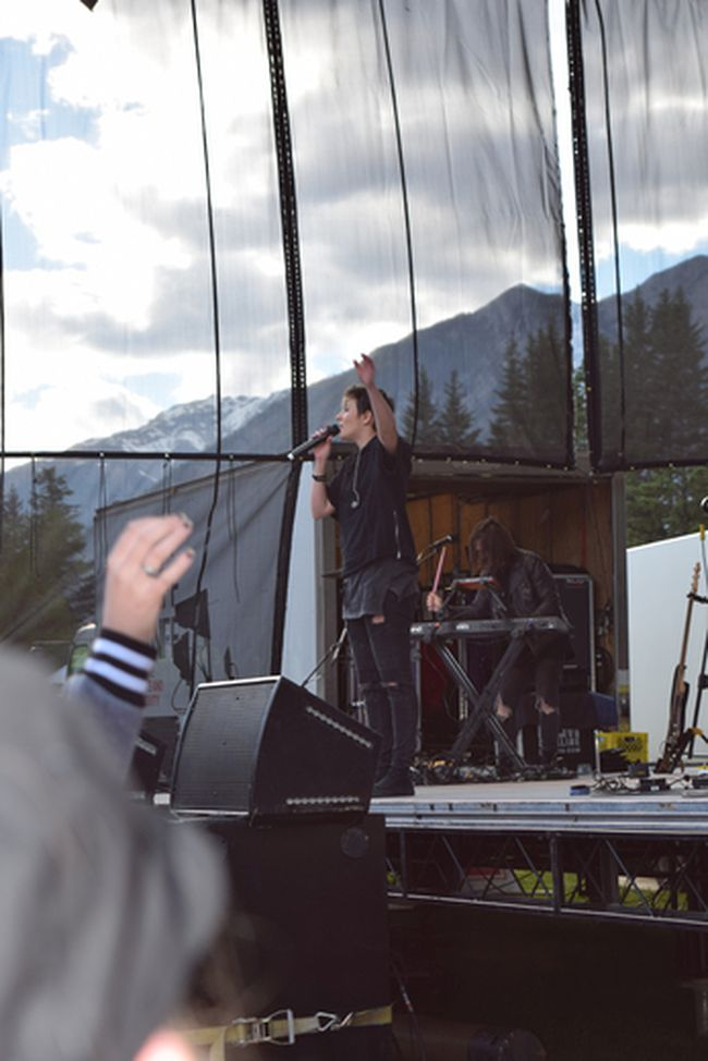 "Singer Ria Mae at Banff Centre's Performance in the Park on June 10, 2017 in Banff, Alberta. Mae was touted as a 2016 ""Next Big Thing"" at CBC Music and ""2016 Spotlight Artist"" at Spotify Canada, according to the Banff Centre. (Spencer Van Dyk/ Crag & Canyon)"