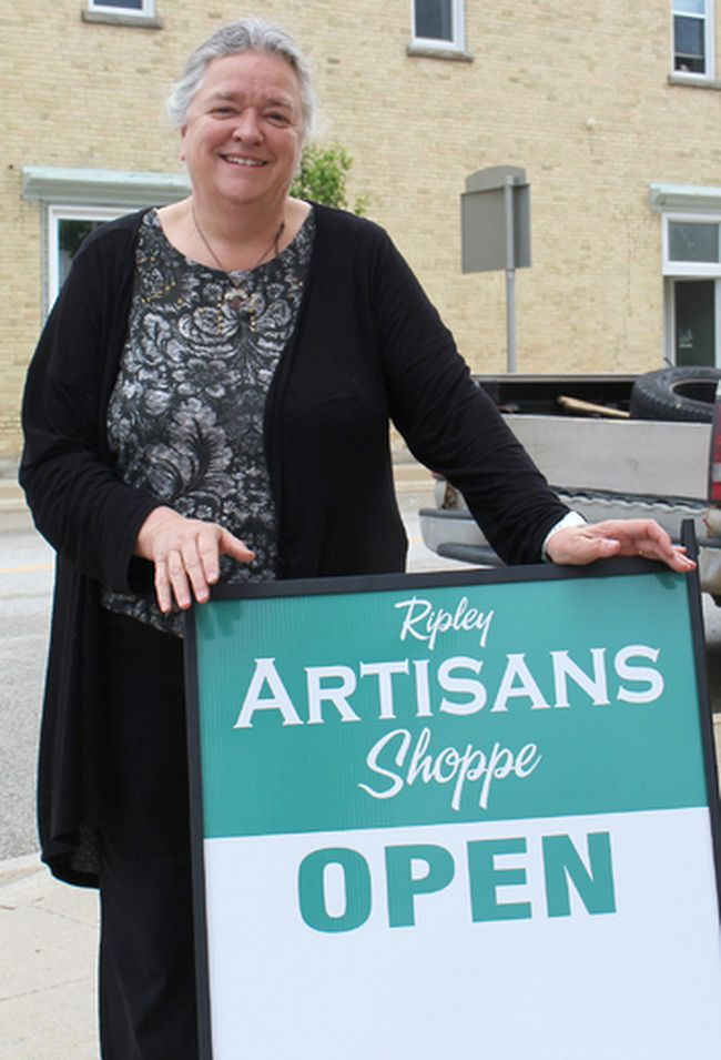 The Ripley Flower Shop is now officially the space for the Ripley Artisans Shoppe. Located at the corner of Queen and Huron in Ripley the popular Ripley Artisans Shoppe is now open for business. Wilma Michel has opened up the doors to the Ripley Artisans Shoppe downtown Ripley.