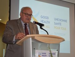 Outgoing Health Sciences North president and CEO Dr. Denis Roy