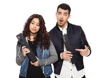 Joe Jonas hosts and hangs with Alessia Cara at the MMVAs Sunday. MUCHMUSIC