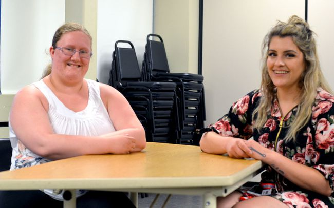Tamara Pilom (left) and Alyx Amaral, (right), on Friday June 16 2017, are both graduates of the Pathways to Education program. Based in northern Kingston, Pathways helps students who live around the poverty line graduate from high school and successfully transition into post-secondary education, training or employment. Opened since 2011, the program has 145 alumni.