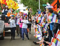 The colourful annual Pride Parade wound its way along Whyte Ave. to 104 St. in Edmonton, June 10, 2017. Ed Kaiser/Postmedia