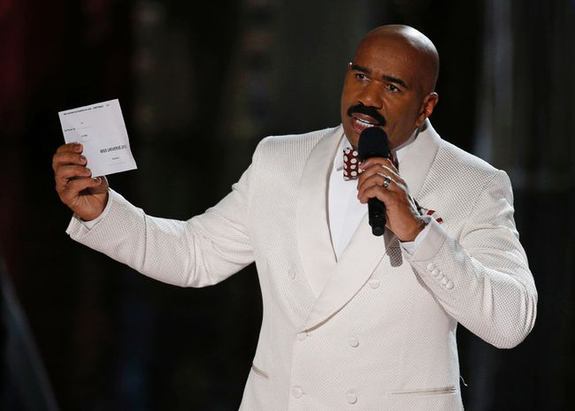 Comedian Steve Harvey is defending his comments to a man from Flint, Mich., who called into his radio show earlier in the week. (John Locher/AP Photo/Files)