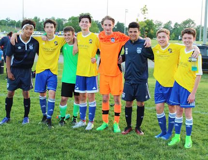 From left: Zion Wallace, Carter Guernsey, Nico Roberto, Aiden Kerr-Dini, Owen Paisley, Jamel Owens, Ethan Pick and Nicholas Ter Haar. (Submitted photo)
