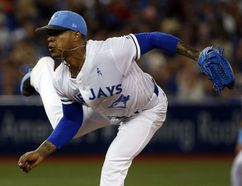 Blue Jays starter Marcus Stroman pitches against the White Sox in Toronto Saturday June 17, 2017. (Jack Boland/Toronto Sun)