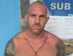 Steven Douglas Skinner is shown after being arrested in Playa El Yaque, on Margarita Island in Venezuela, in a police handout photo. THE CANADIAN PRESS/HO - CICPC