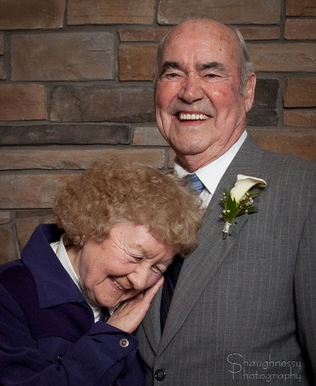Dick and Isabel Legault in this file photo, celebrating more than 60 years of marriage. 
