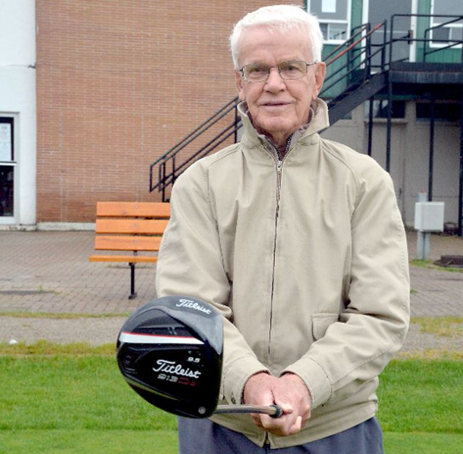 A love of the game of golf helps keep Timmins native John Sangster feeling young. The soon-to-be 91 year old is the community's oldest golfer. Despite his age, he still likes to get out an play at Spruce Needles Golf Club four or five times a week — weather permitting. He admits he doesn't like playing in cool, damp conditions, but who does?  THOMAS PERRY/THE DAILY PRESS