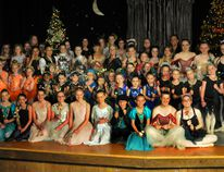 Some of the past and present students of Marg Mamo's Southport School of Classical Ballet joined her on stage at the end of a June 10 recital at Saugeen District Secondary School that marked Mamo's 40-year career as a ballet instructor. Fran sanagan