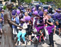 After hearing about what the town would be doing to address elder abuse in the near future, with new partnerships and training initiatives being announced, attendees did an awareness walk to the Woman of Vision statue on June 15, World Elder Abuse Awareness Day.