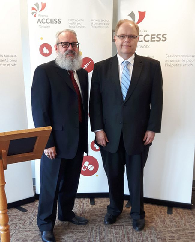 Richard Rainville (left) is executive director of Reseau Access Network and Kevin McCormick is president.