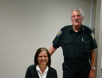 Wendy Donaldson, left, and Mark Liddle are set to retire from Hanover Police Service.