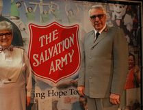 Marguerite Ward (left) and Robert Ward (right) were the guest speakers for the Melfort Salvation Army's 100 Anniversary festivities.