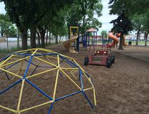 MITCH GOLDENBERG, Edmonton Examiner - The playground at St. Alphonsus Catholic Elementary School is seen last Wednesday. The school is hoping to find ways to update the aging facility for its students.