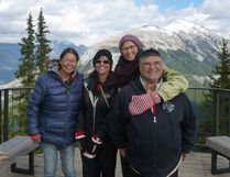"From left, siblings Esther, Rosalie, Betty Ann, and Ben reunite in Banff to film a moving documentary ""Birth of a Family"", about their separation as young children during Canada's infamous Sixties Scoop."