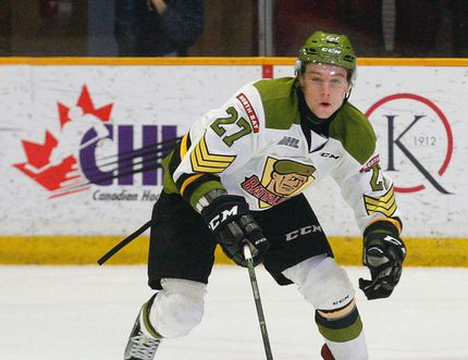 Adam McMaster, North Bay Battalion forward, has been invited to attend the Hockey Canada U18 development and summer team selection camp in Alberta next month. Three other Troops players are invited to try out for the U17 team. Nugget File Photo