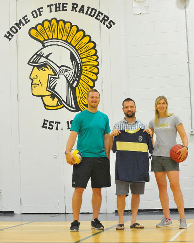 The trio of Ryan Gaertner, Ryan Robyn and Jodi Snowden are looking at the possibility of adding a double-gym facility to Delhi District Secondary School, one that would serve both school and the general public. JACOB ROBINSON/Simcoe Reformer