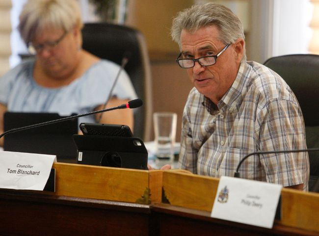 Brockville councillor Tom Blanchard speaks to the finance, administration and operations committee on Tuesday. (RONALD ZAJAC/The Recorder and Times)