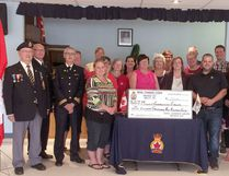 After fund raising all year, the Royal Canadian Legion Millet Br. 229 donated $11,950 back to a number of community organizations during a special meeting at the Legion June 15.