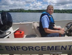 Olivia Skillings is the new boat patrol staff member at Pittock Reservoir. (HEATHER RIVERS/WOODSTOCK SENTINEL-REVIEW)
