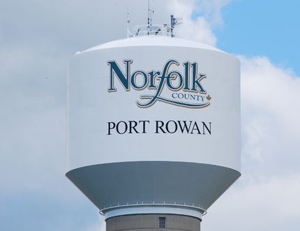 A water main failure Sunday, June 18, 2017 drained the water tower in Port Rowan. The failure forced Norfolk Fire & Rescue to implement a contingency plan in case there was a fire in Port Rowan requiring the services of fire hydrants. MONTE SONNENBERG / SIMCOE REFORMER