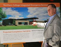 Architectural drawings were unveiled Wednesday for the new $11.7-million integrated emergency services complex at Northern College. Those on hand for the event included Fred Gibbons, the college president and chief executive officer.