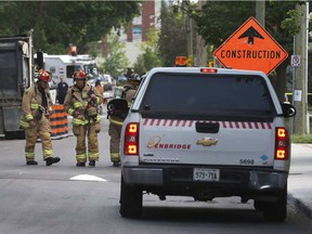 Gas Leak Ottawa Police and Ottawa Fire Services responding to a gas leak on Gilmour Street in Ottawa Ontario Thursday June 22, 2017. The leak was at a construction site. Tony Caldwell