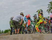 Photo supplied by Melissa Chalmers Riders with the Stony Plain BMX Club put in extra work last weekend during a training clinic hosted by On the Box Clinics.