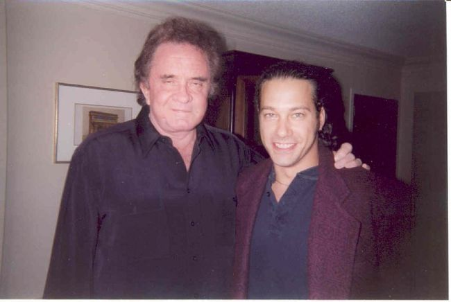 Johnny Cash and Bill Welychka.